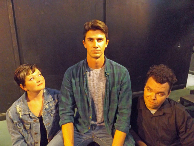 The City Repertory Theatre production of 'Tick Tick Boom' stars, from left: Chelsea Jo Conard, Trey King and Beau Wade. The musical will be staged April 5-14 at City Rep's venue in City Market Place in Palm Coast. (© FlaglerLive)