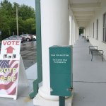 Voting by mail is breaking records, but in-person voting may not be very high today. (© FlaglerLive)