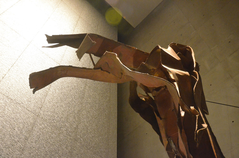 Twisted metal from the World Trade Center, preserved at the National September 11 Memorial & Museum in New York. The attacks had once, briefly, united the country. The country's soul has since become as twisted as the metal. (© Pierre Tristam/FlaglerLive)