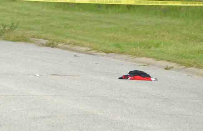 Where the victim fell. (c FlaglerLive)