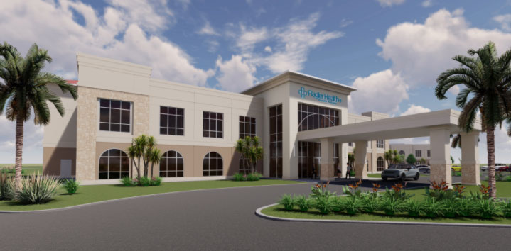 """What Flagler Health+'s """"village"""" will look like."""