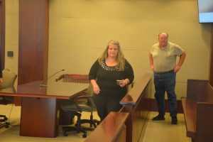 In hearings leading up to the trial over the past three years, Weeks allies such as Dennis McDonald and John  Ruffalo would attend. None of her allies showed during trial. The only person standing by her today in court when it was over, aside from her lawyers, was her husband Duayne.  Click on the image for larger view. (© FlaglerLive)