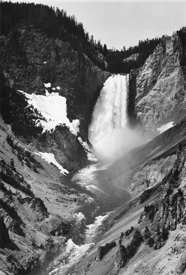 Yellowstone Falls by Ansel Adams
