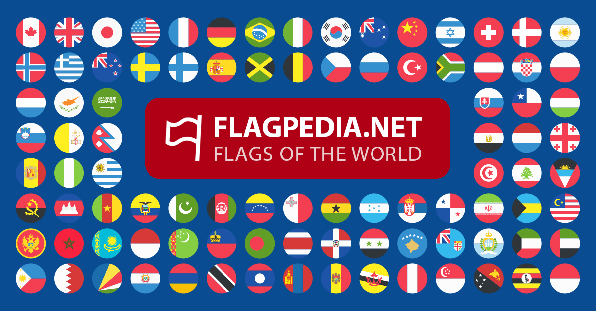 emojis of all country flags in the