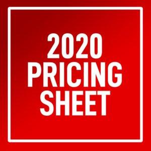 2020 pricing sheet