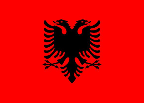 Resultat d'imatges de bandera albania
