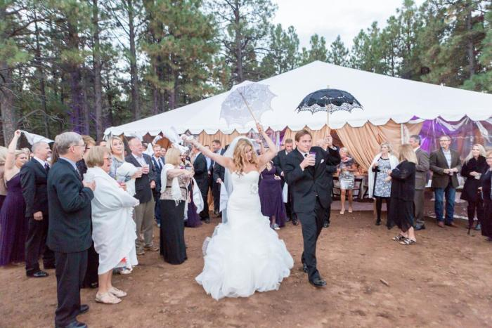 flagstaff outdoor forest wedding venue enchanted forest wedding