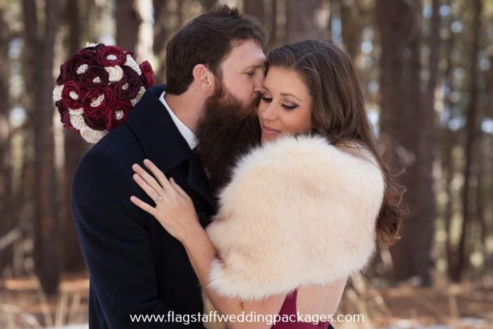 flagstaff winter forest wedding elopement