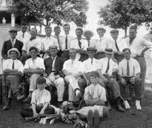 A snapshot of the founding members of the PGA of Canada in 1911 (plus a couple caddies)