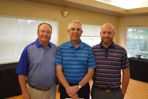 Terry Kolar (middle) wins the Senior Division of the Flagstick.com Players Tour PGA of Ottawa Spring Open
