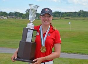 Grace St-Germain Wins the 2016 Ontario Women's Amateur Championship (Photo: Golf Ontario)