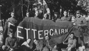 Soliders on Fettercairn Island (Photo: Agnes Richardson Etherington)