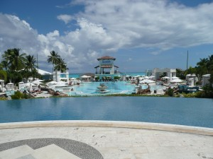 Sitting poolside is just one way to relax in the Bahamas