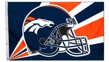 Broncos helmet flag