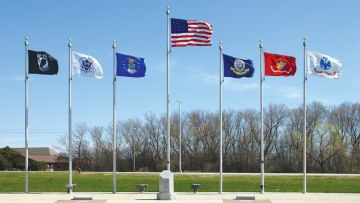 international flags and flag poles