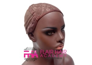 Wig cap with stretchy back lace