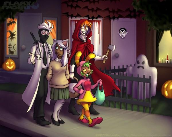 153. Хэллоуинский филлер комикс Слоёное Тесто [Flaky ...