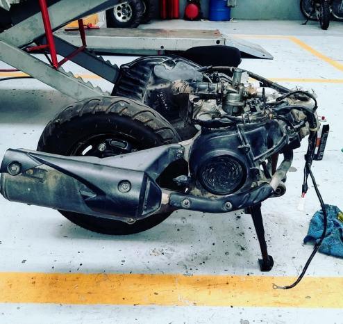motor de motoneta enfriado por aire forzado