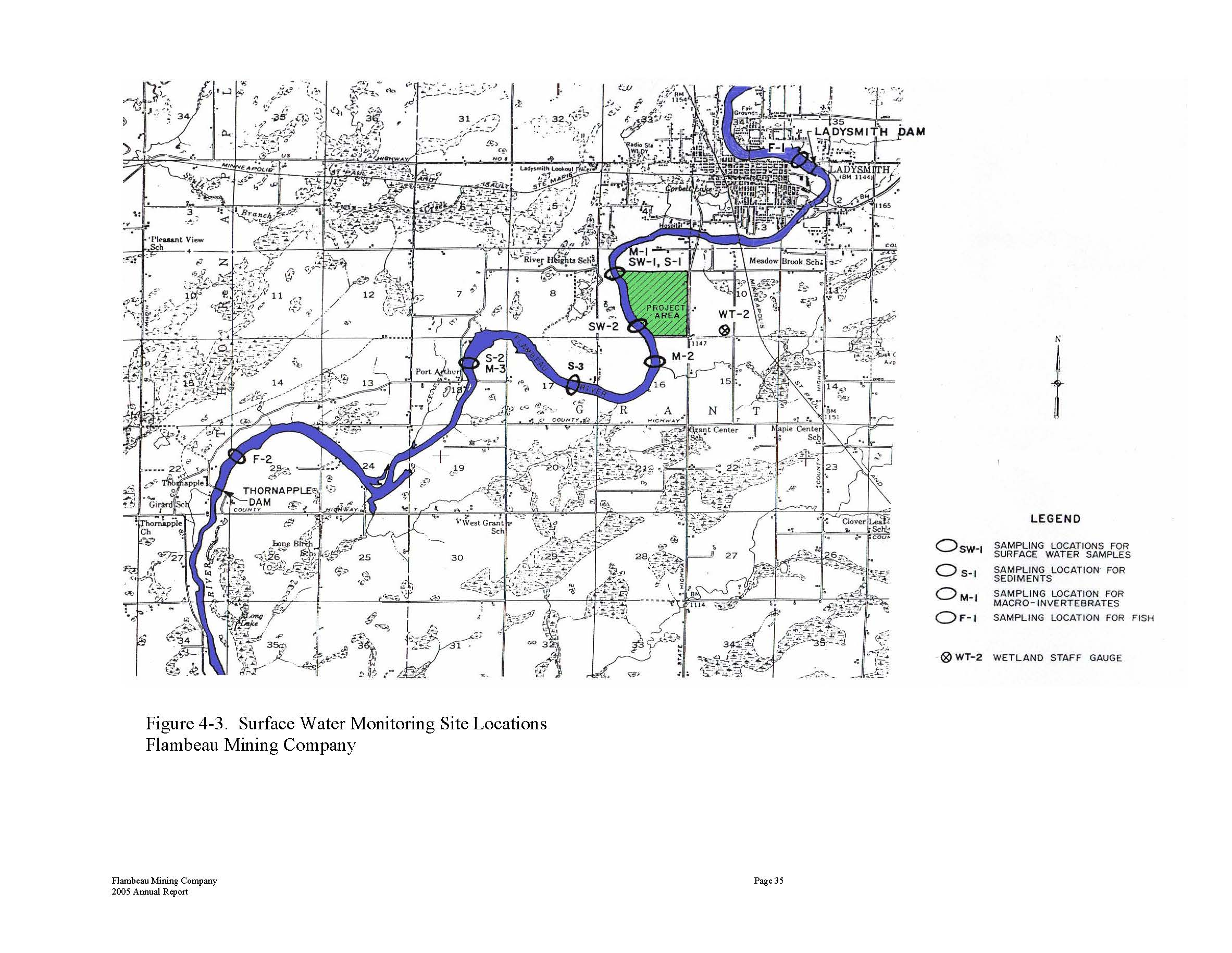 Surface Water Flambeau Mine Exposed