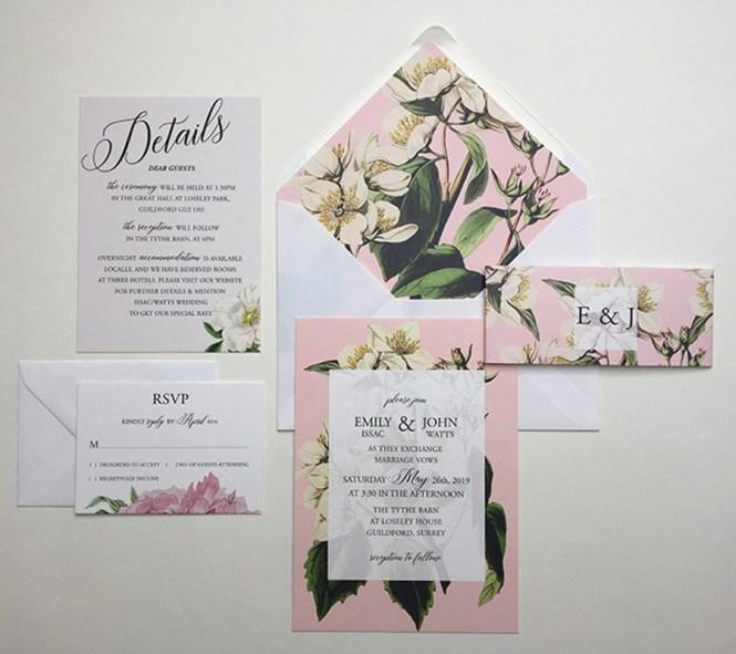 Botanical Wedding Invitation Sample