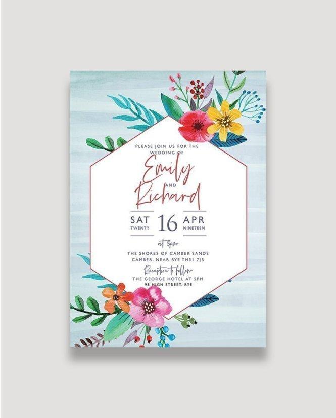 Fl Pop Wedding Invitation
