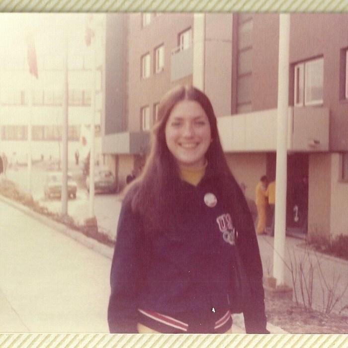 U.S. Luge Olympian Maura Haponski (now Grogan) at the 1976 Olympics in Innsbruck.