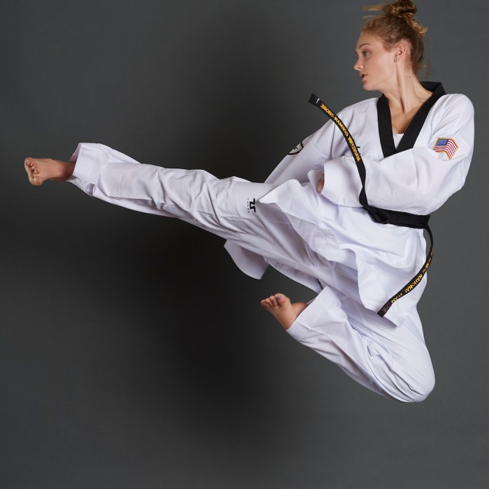 US Olympic hopeful Madelynn Gorman-Shore explains the sport of taekwondo on Keep the Flame Alive Podcast. Photo courtesy of USA Taekwondo.