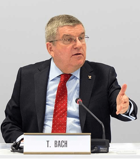 Thomas Bach, President of the International Olympic Committee, presides over a meeting. Photo: IOC