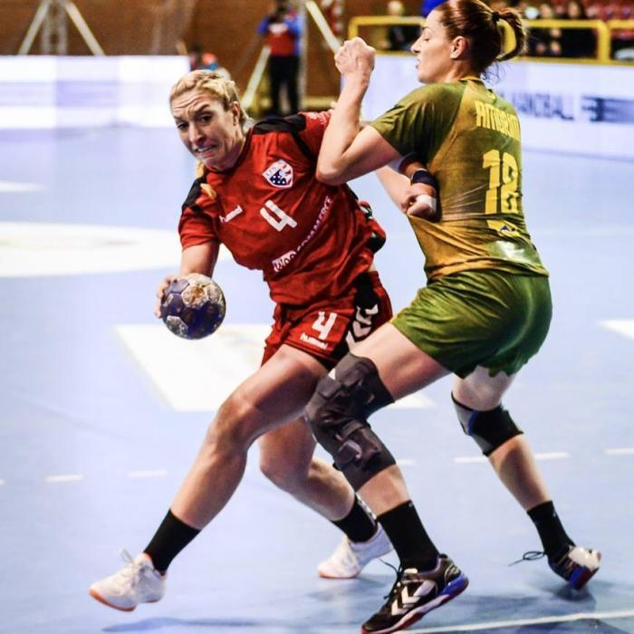 Team USA Handball captain Sarah Gascon playing handball. Photo courtesy of USA Handball.
