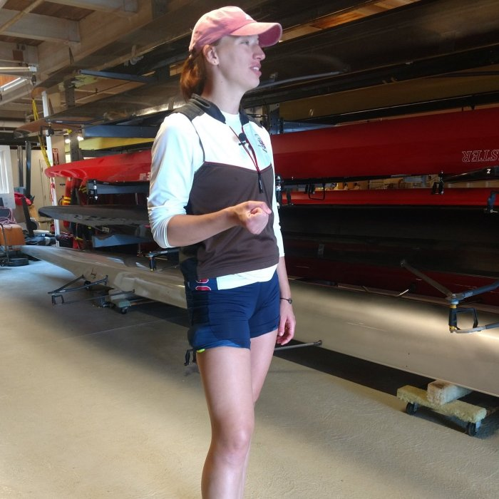 Rio 2016 Olympic gold medalist Tessa Gobbo. She won gold in the women's eights rowing competition.