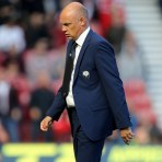 MIDDLESBROUGH, ENGLAND - SEPTEMBER 27: Leeds United manager Uwe Rosler during the Sky Bet Championship match between Middlesbrough and Leeds United at the Riverside on September 27, 2015 in Middlesbrough, England.  (Photo by Richard Sellers/Getty Images) *** Uwe Rosler***