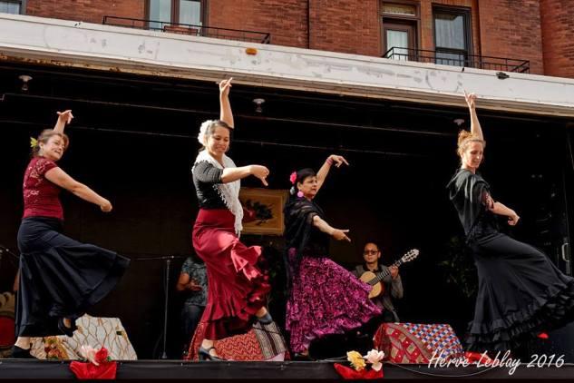 Festival flamenco sur la rue Bernard, Montréal, été 2016