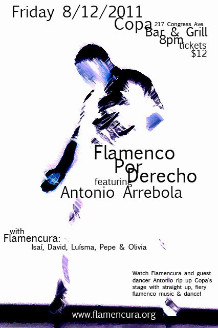 Antonio Arrebola with Flamencura at Copa!