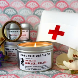 Mitchell House - Miss Pinkerton inspired all natural soy wax candle - Flame Noir Candle Co