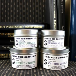 Poirot Investigates - Whitehaven Mansions + Hercule's Christmas - Hercule Poirot inspired all natural set of two soy wax candles - Flame Noir Candle Co