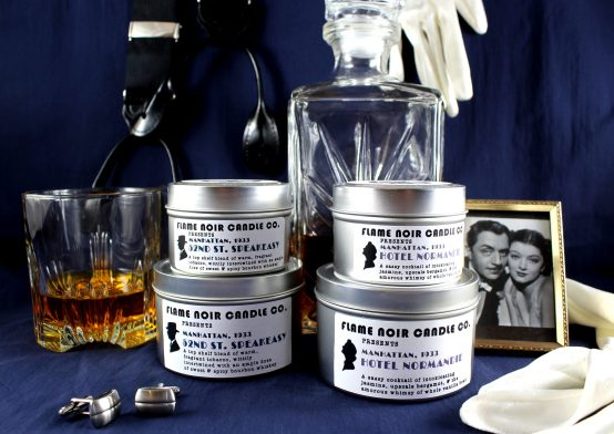 The Thin Man - Nick & Nora Charles inspired soy wax candle set by Flame Noir