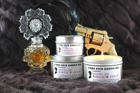 Wardlow House - Miss Phryne Fisher inspired all natural soy wax candle - Flame Noir Candle Co