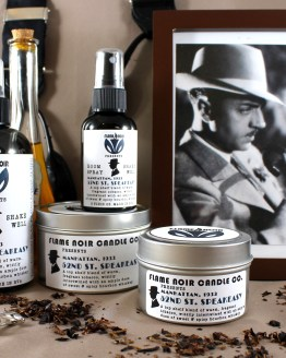 52nd St. Speakeasy - Nick Charles inspired all natural soy wax candle + room spray set - Flame Noir Candle Co