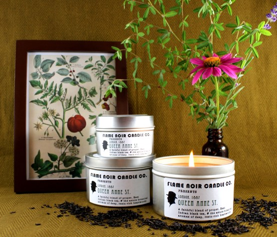 Queen Anne St. - Dr. John Watson inspired all natural soy wax candle - Flame Noir Candle Co