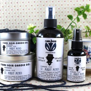 St. Mary Mead - Miss Marple inspired soy wax candle + room spray set - Flame Noir Candle Co
