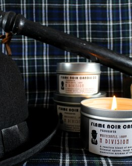 H Division - DI Edmund Reid - Ripper Steet Inspired All Natural Soy Wax Candle by Flame Noir Candle Co.