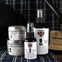 H Division - DI Edmund Reid inspired all natural soy wax candle + room spray set - Flame Noir Candle Co