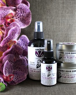 The Plant Rooms - Nero Wolfe inspired all natural soy candle + room spray set by Flame Noir Candle Co.