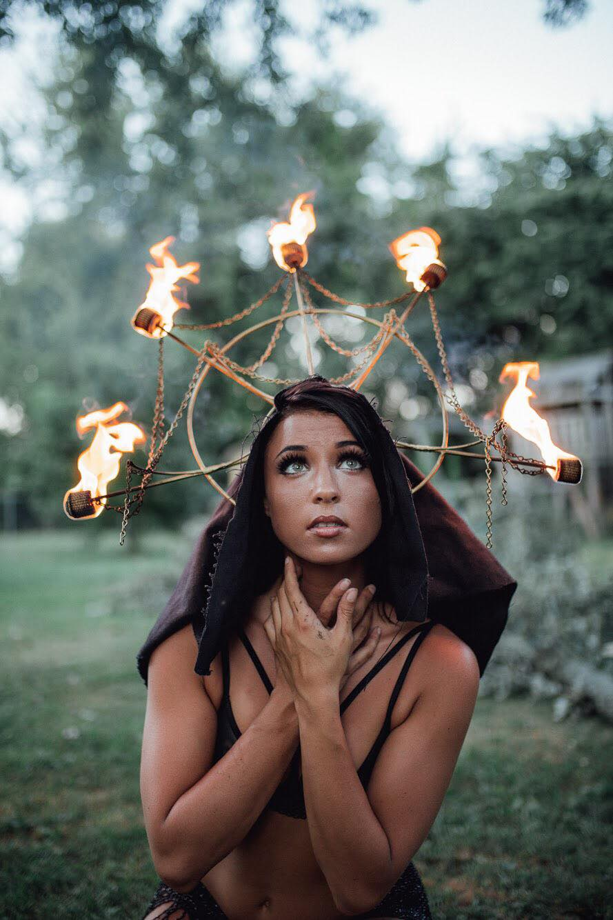 Haley Lane Knoxville Tennessee Fire Headdress