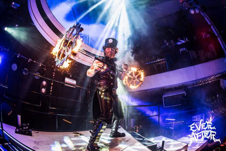 Fire Performer fire dancers Shade Flamewater Circus Steampunk Dragon Staff Ever After