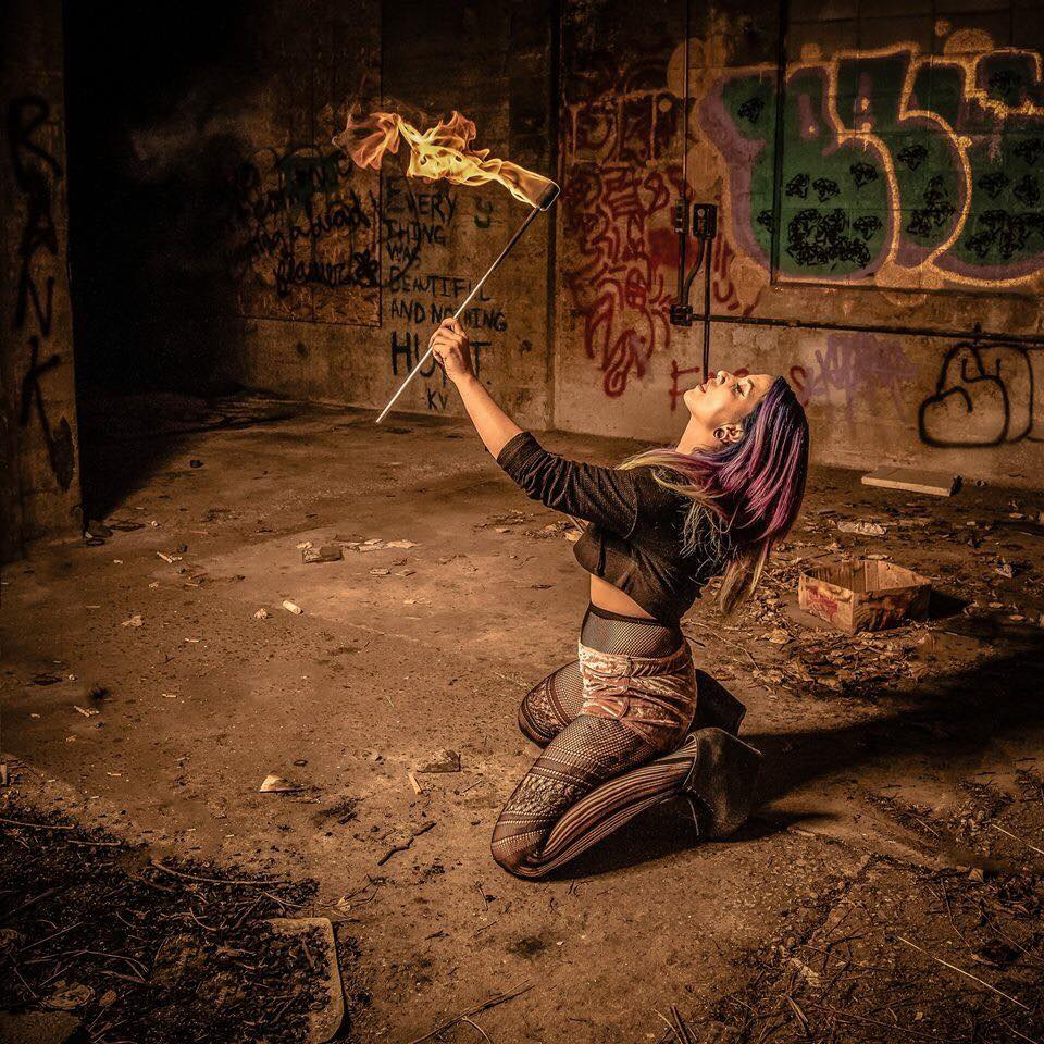 Missoula Fire Performer Siren Iris Flamewater Circus