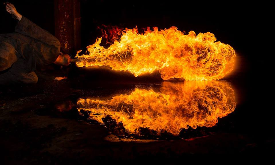 Philadelphia Fire Twirlers Terry Fields Flamewater Circus