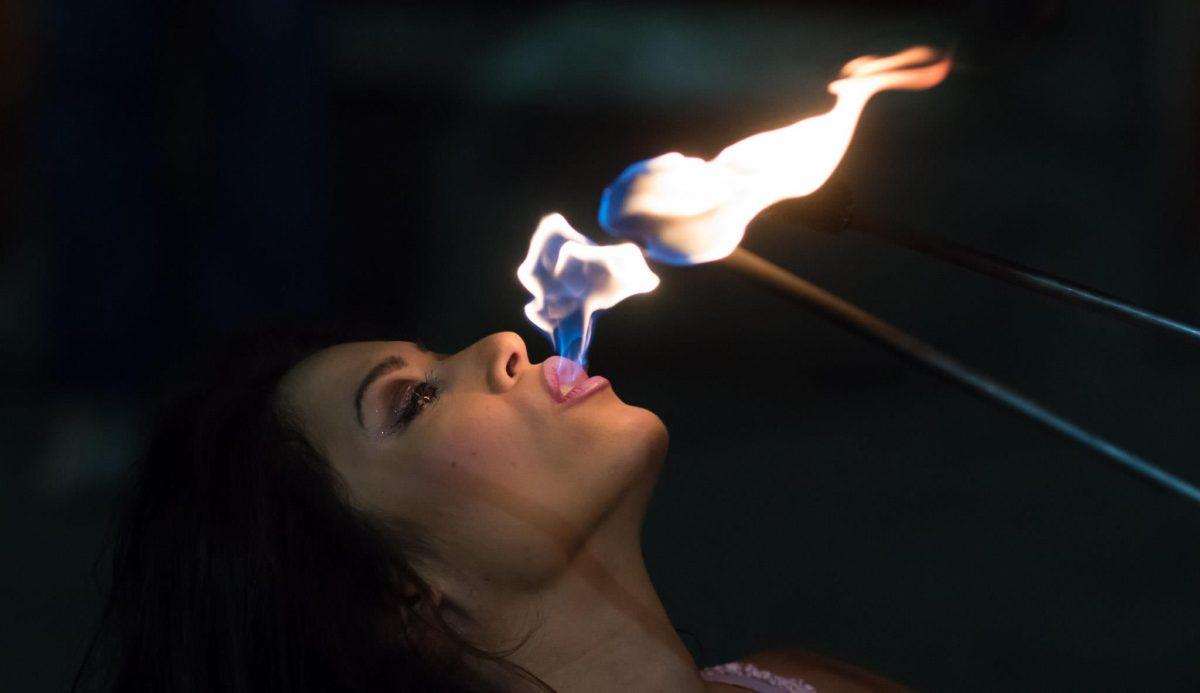 San Fransisco Fire Eater Fire Performer Hannah Elizabeth
