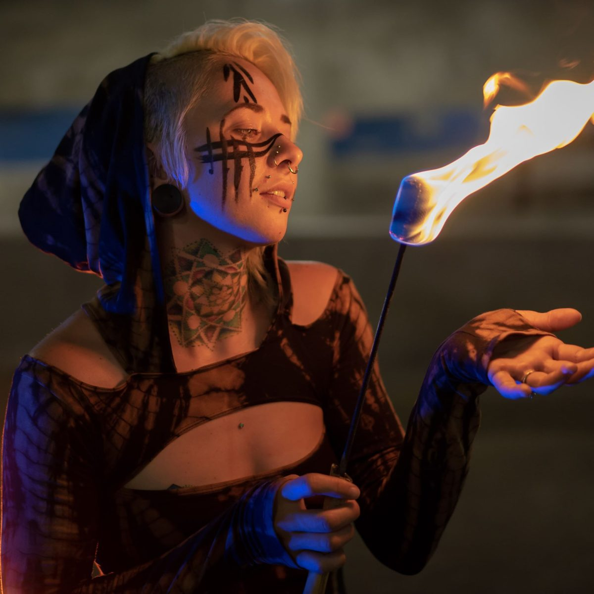 Wichita Fire Eater Entertainer Madison Flamewater Circus