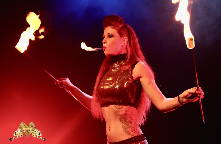 Los Angeles Fire Eater Samantha Love Flamewater Circus